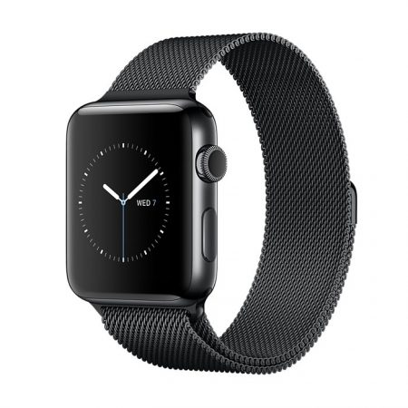 Apple Watch MNQ12 SERIES 2 42mm – Space Black Stainless Steel Case with Space Black Milanese Loop