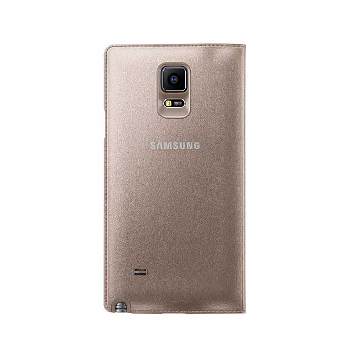 Samsung Galaxy Note 4 LED Flip Cover Gold