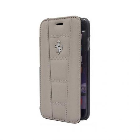 Ferrari 458 collection Leather Booktype case for Apple iPhone 6 Plus - Dark Gray