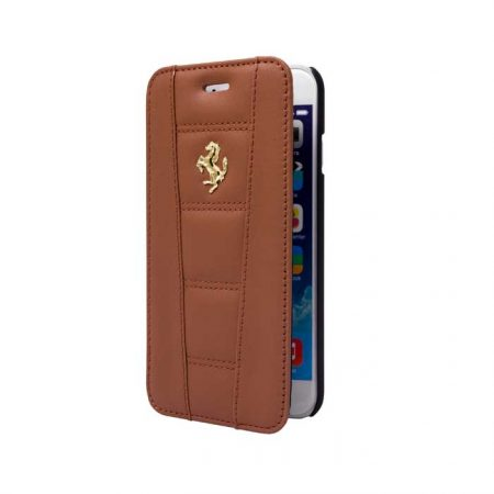 Ferrari 458 Collection Leather Booktype case for Apple iPhone 6 - Camel