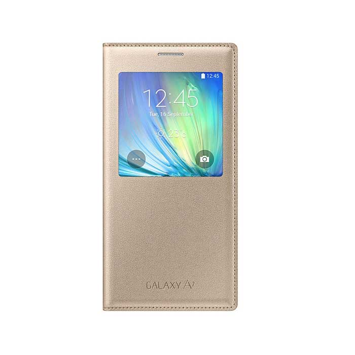 Samsung Galaxy A7 S View Flip Cover Gold