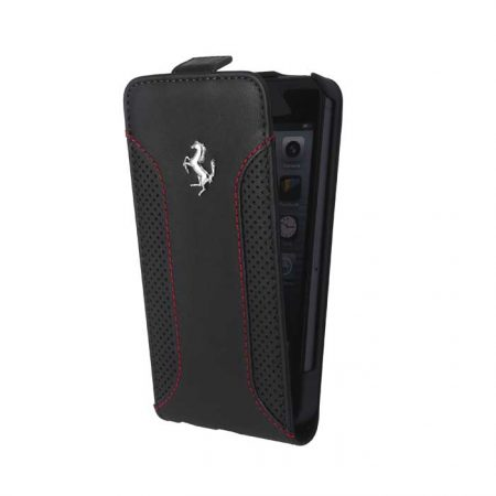 Ferrari F12 Collection Leather Flap-case for Apple iPhone 6 - Black