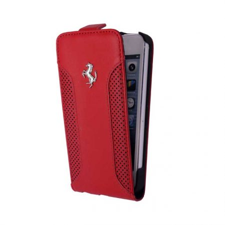 Ferrari F12 Collection Leather Flap-case for Apple iPhone 6 - Red