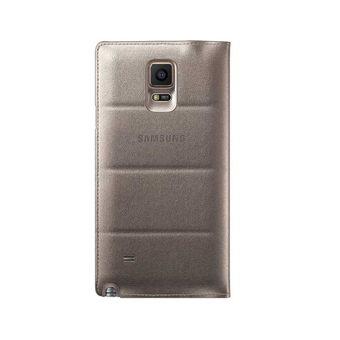 Samsung Galaxy Note 4 S View Flip Cover Gold