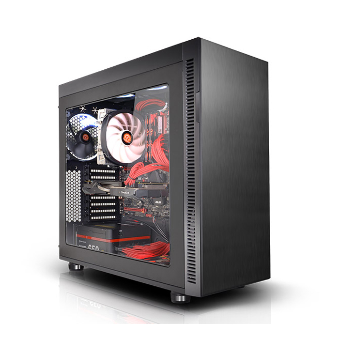 Thermaltake Suppressor F51 Window E-ATX Mid-Tower Chassis (CA-1E1-00M1WN-00) Black
