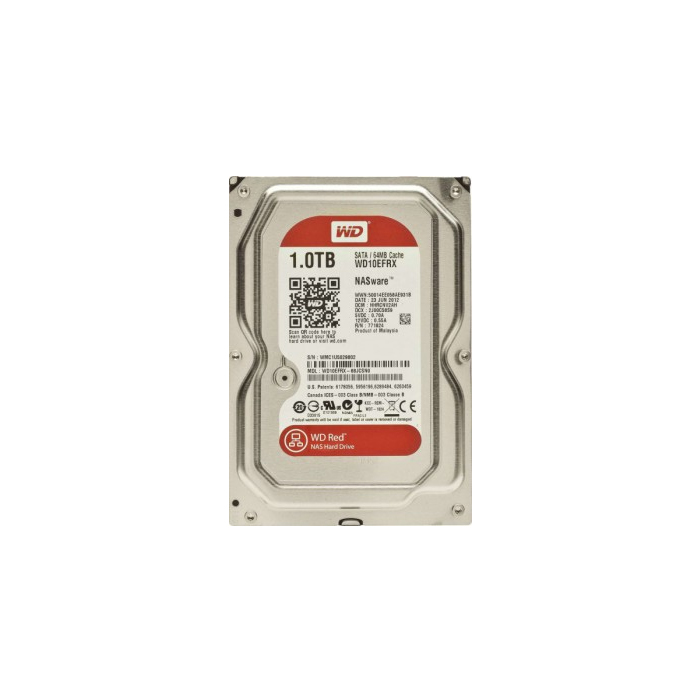 "Western Digital 1TB IP 64MB 3.5"" SATA HDD, 6Gb/s RED - WD10EFRX"