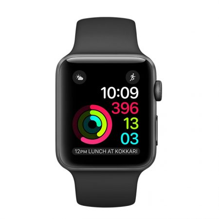 Apple Watch MPO62 Series 2 38mm - Space Gray Aluminum Case with Black Sport Band