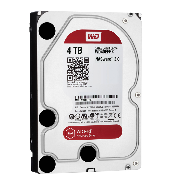 "Western Digital 4TB IP 64MB 3.5"" SATA HDD 6Gb/s RED - WD40EFRX"
