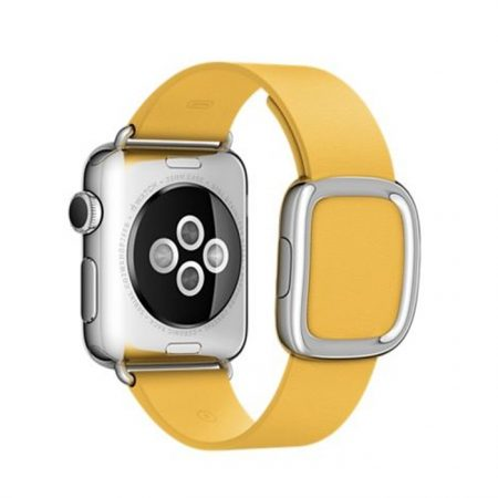 Apple Watch MMFD2 38mm Stainless Steel Case with Marigold Modern Buckle - (Small)