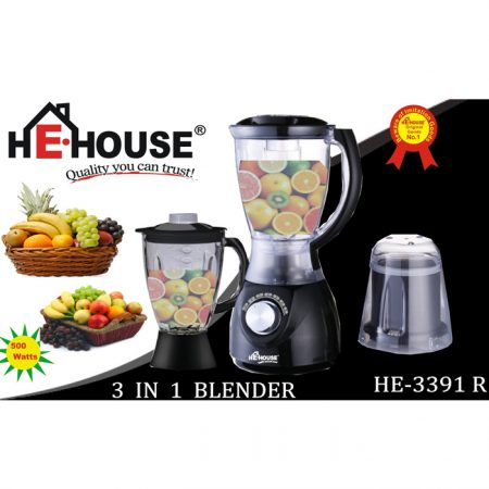 HE HOUSE - 3391 3in1 Juicer Mixer Blender