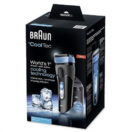 Braun CoolTec CT2cc Electric Wet and Dry Foil Shaver with Clean and Charge Station