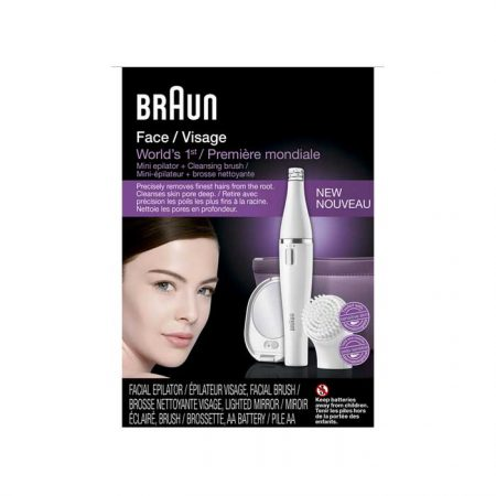 Braun Face 830 Facial Epilator and Facial Cleansing Brush