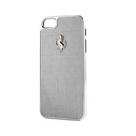 Ferrari GT Carbon Apple iPhone 6 Backcover - Silver