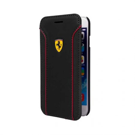 Ferrari Fiorano Collection Leather Booktype case for Apple iPhone 6 - Black