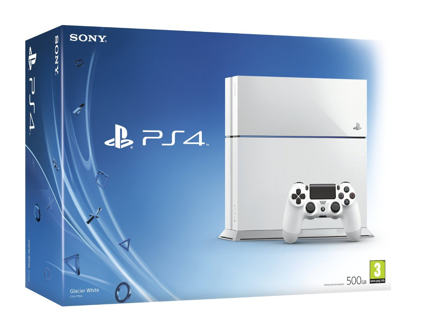Sony Play Station 4 500GB Asian (REGION 3) White