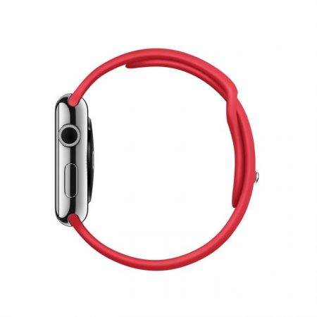 Apple Watch (MLLE2) 42mm Stainless Steel Case with RED Sport Band