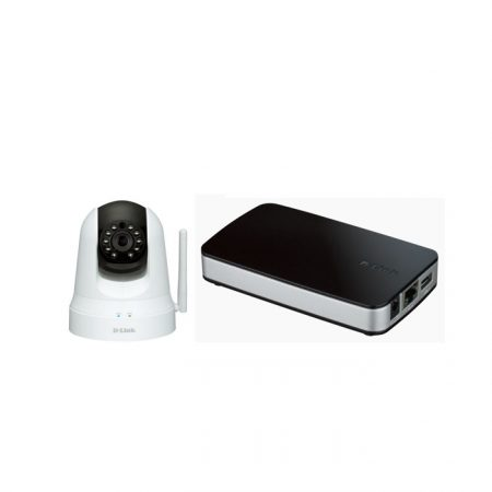 D-Link DCS-5020L Wireless Day & Night Pan & Tilt Cloud Camera + D-Link DNR 202L Camera Video recorder
