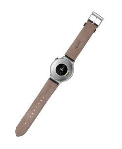 Huawei Watch W1 Silver With Black Leather Strap