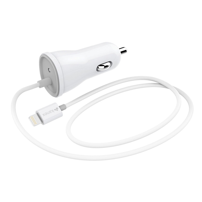 Kanex Car Charger with Lightning Connector (White)