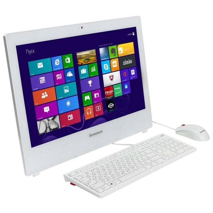 "LENOVO S40-40 AIO DESKTOP (CORE i3 4170 – 3.7 GHZ 4GB ,500GB , 21.5"" LED FHD , 128 SHD , KB+MOUSE , WINDOWS 8.1) WHITE"