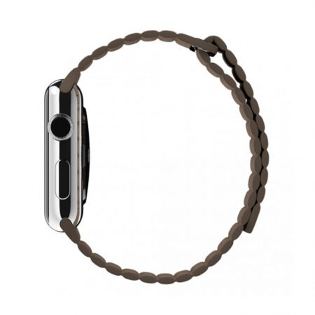 Apple Watch MJ422 42mm Stainless Steel Case with Brown Leather Loop