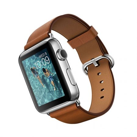 Apple Watch (MMFT2) 42mm Stainless Steel Case with Saddle Brown Classic Buckle