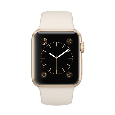 Apple Watch (MLCJ2) 38mm Gold Aluminum Case with Antique White Sport Band