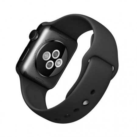Apple Watch (MLCK2)38mm Stainless Steel Case with Space black Sport Band