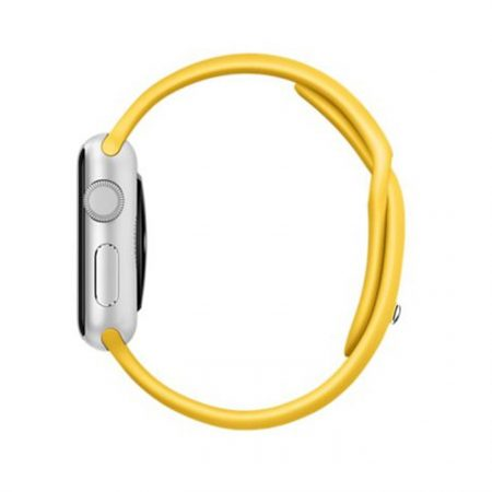 Apple Watch MMF02 38mm Silver Aluminum Case with Yellow Sport Band