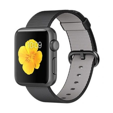 Apple Watch (MMF62) 38mm Space Gray Aluminum Case with Black Woven Nylon