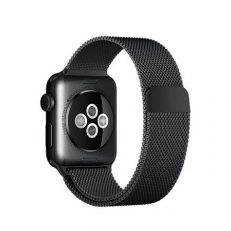Apple MMFK2 38mm Space Black Stainless Steel Case with Space Black Milanese Loop