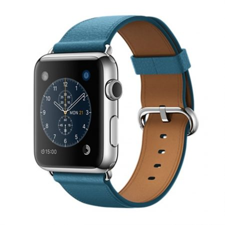 Apple Watch (MMFU2) 42mm Stainless Steel Case with Marine Blue Classic Buckle
