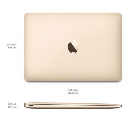Apple MacBook (MLHF2) 12-Inch, 512GB, Retina Display- Gold (2016 Version)
