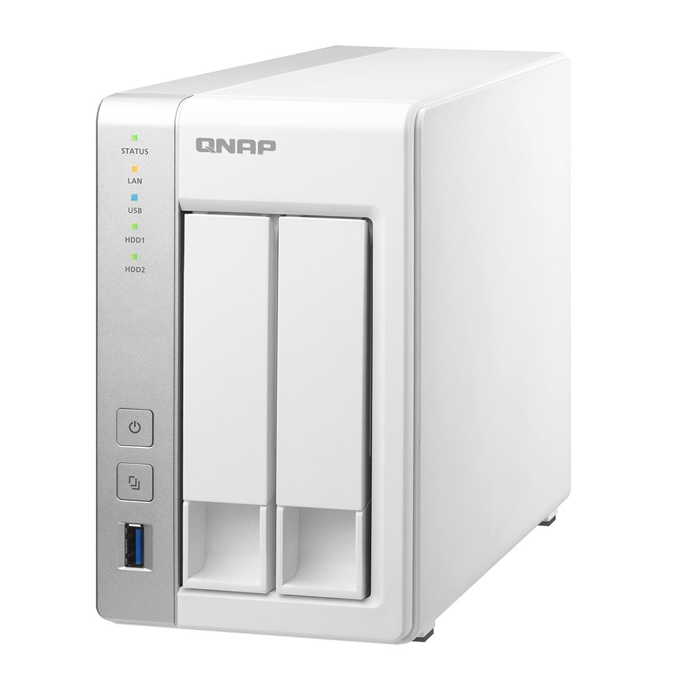 QNAP TS-231 2-bay Personal Cloud NAS with PLEX, DLNA, Mobile Apps Support
