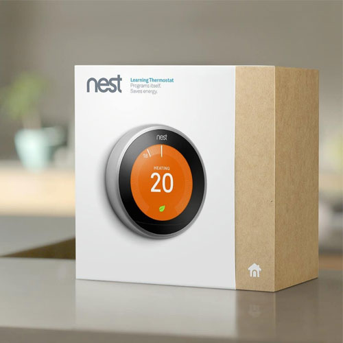 Nest Learning Thermostat 3rd Generation Mirror Black